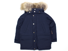 Ver de Terre Eskimo winter jacket navy with down